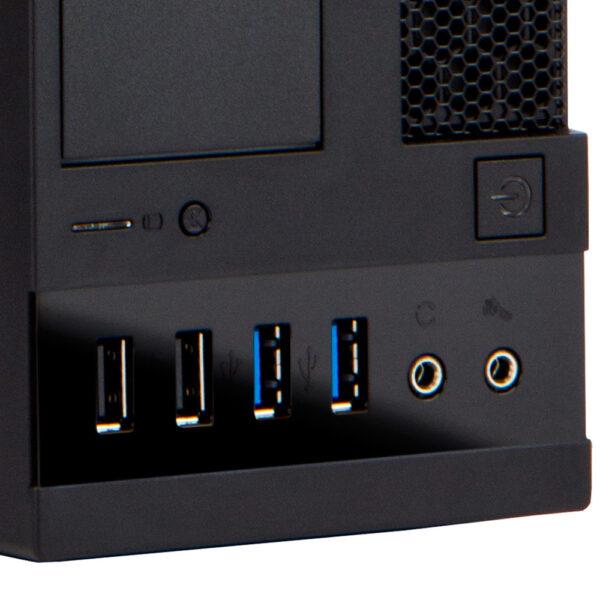 Slim business desktop ports