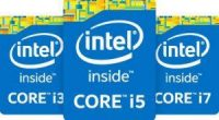 workstations with intel inside badges. core i3, i5, and i7.